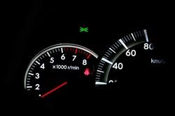 Detail of the Car speed meter