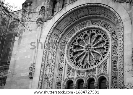 detail of the jewish Temple Emanu-El in new york city NYC USA  Stock fotó ©
