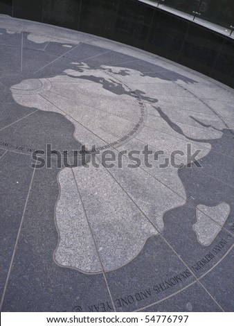 detail of the map shown at the African Burial Ground