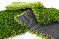 Detail of the material to cover with synthetic artificial grass.