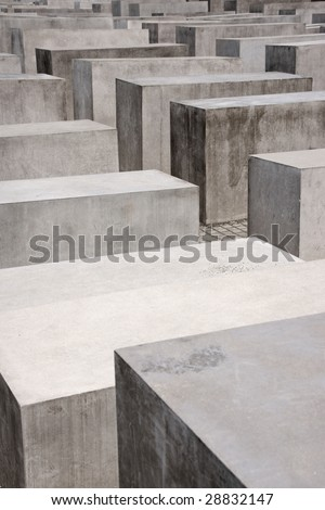 Detail of the Memorial for the murdered Jews of Europe by architect Peter Eisenman. This monument consists of 2711 concrete pillars