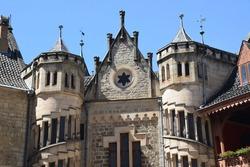 Detail of the neo Gothic Marienburg castle