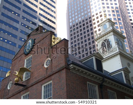 detail of the old Boston city hall