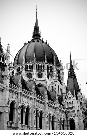 detail of the parliament building in Budapest #134518820