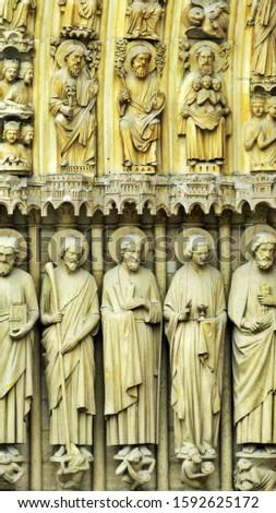 Detail of the Portals of Notre-Dame de Paris, West Facade