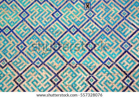 Detail of the Registan's exterior wall, Samarkand, Uzbekistan