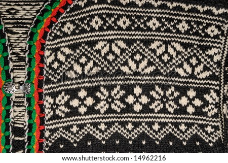 Detail Of The Traditional Norwegian Sweater Pattern. Stock ...