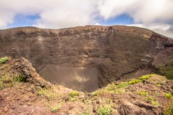 Detail of the Vesuvius crater, Naples, Italy