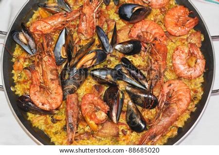 Valencian Rice Valencian Rice Dish From
