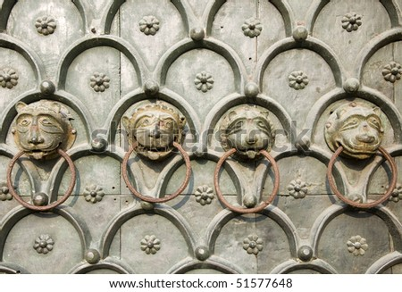 Detail of Venice iron door