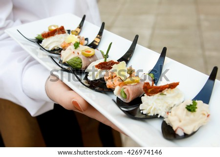 Canape images for Plastic canape spoons