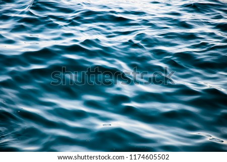 Detail of wavy deep sea water in tension before the storm