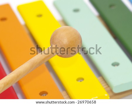 detail of xylophone for children