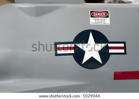 Detail on a fighter jet