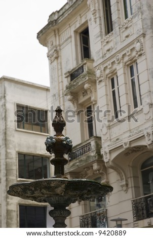 Detail shot of an old fountain in Montevideo, Uruguay, 2008
