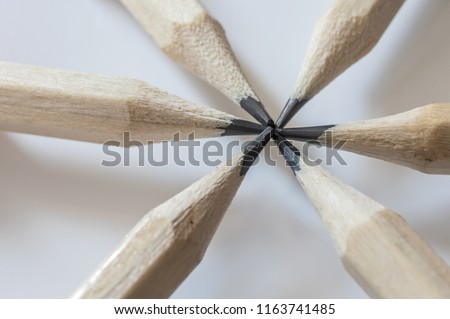 Detail shot of circular pencil tips #1163741485