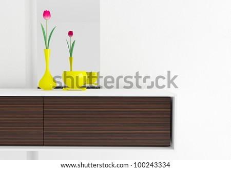 Detail shot of modern living room furniture. Interior design.