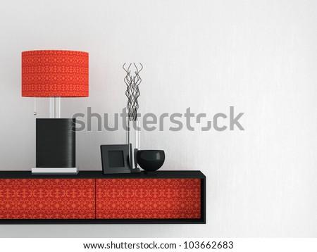 Detail shot of modern living room furniture. Interior design. - stock photo
