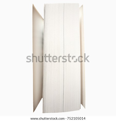 detail view of a printed book pages side isolated over white background Сток-фото ©