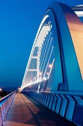 detail view of arch on Apollo bridge in Bratislava, Slovakia