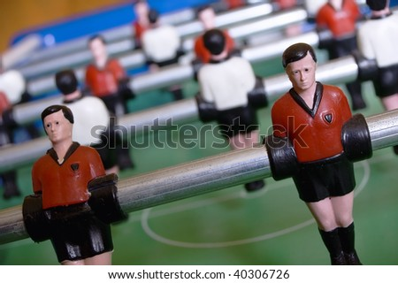 Detail View of Table Soccer
