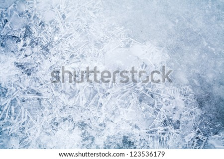 Detailed background texture of fresh thin ice