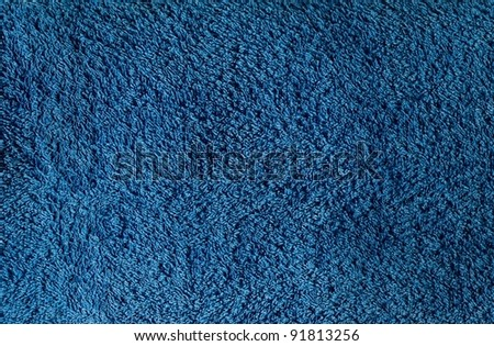 Detailed blue towel texture