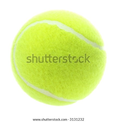 Detailed brand new tennis ball isolated on white