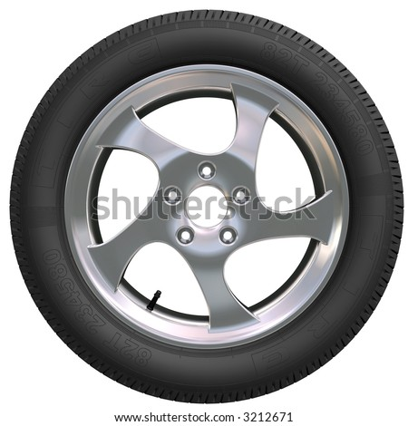 Wheel Rims  Cars on With Tires Car Wheels On White Background Car Wheel Vector