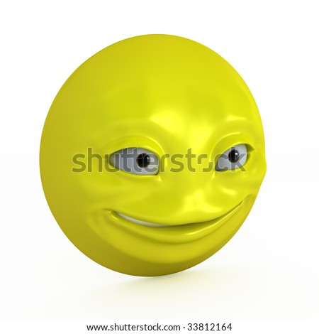 funny smiley face cartoon. cartoon 3d face smiley
