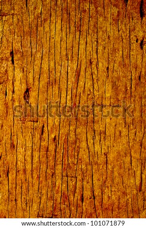Detailed closeup of old wooden