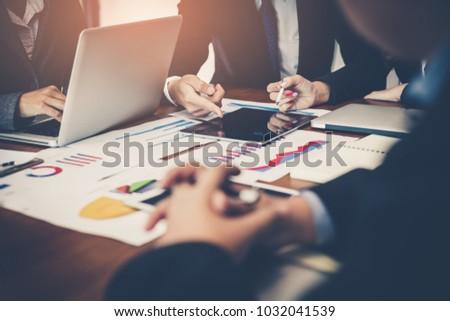 Detailed consultation Between business team. Business team meeting.