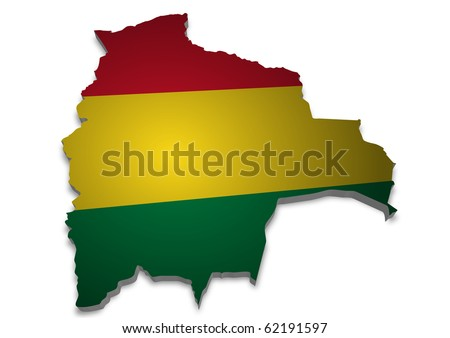 Political Map Of Bolivia. stock photo : detailed 3d map of olivia with flag