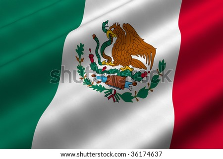 mexico flag. of the flag of Mexico.