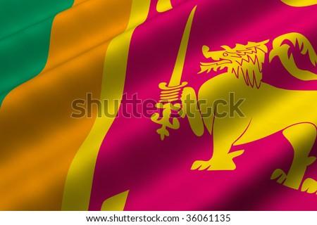 Sri Lankan Flag. of Sri Lanka. Flag has