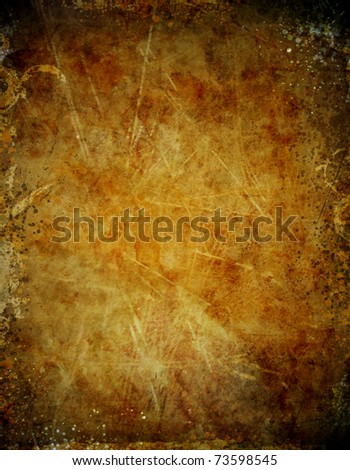Detailed grunge background with splats and stains