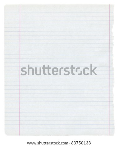 detailed lined paper texture, isolated