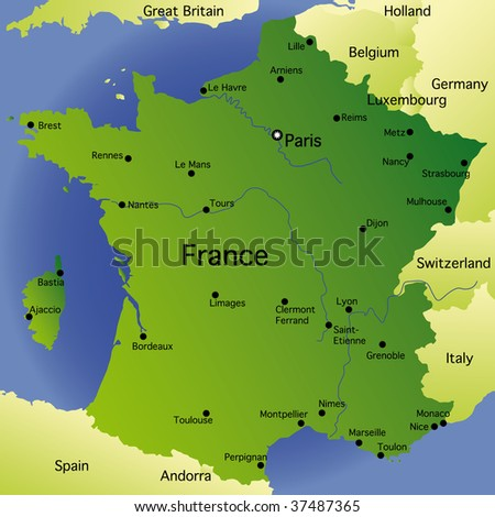detailed map of kazakhstan. detailed map of france with