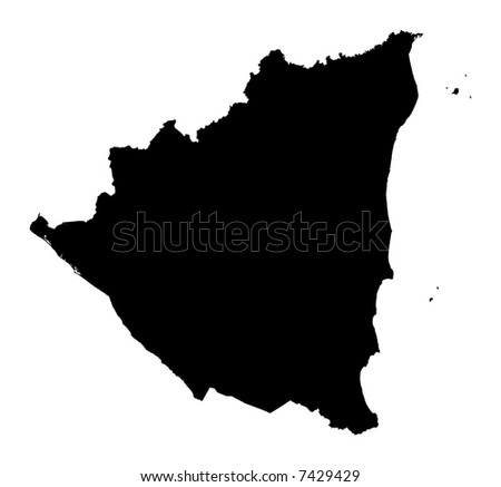 map of nicaragua with capital. Detailed map of Nicaragua,