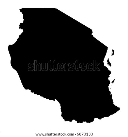 physical map of tanzania. OUTLINE MAP AFRICA TANZANIA
