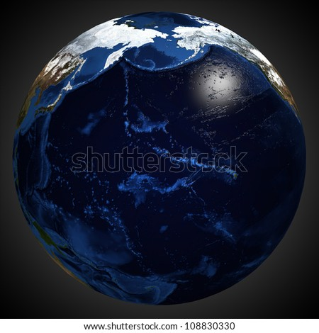Detailed map of the Earth's surface.