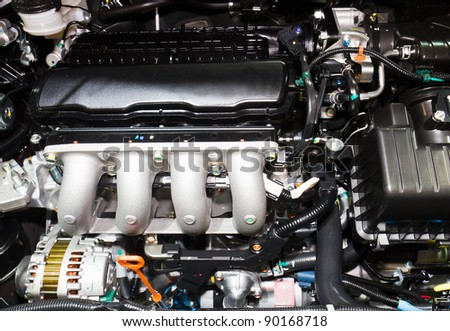 Detailed new Motor Car Engine.
