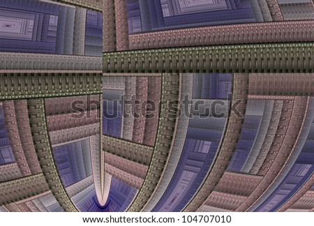 Detailed pink, purple and grey abstract woven design