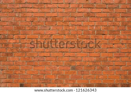 Detailed Red Brick Wall