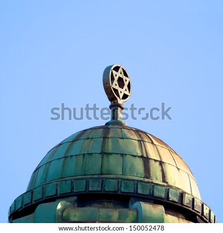 detailed roof of a synagogue in melbourne australia