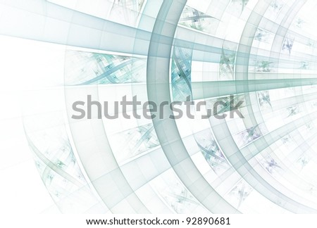 Detailed teal arch / curve design on white background