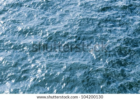 Detailed texture of river water
