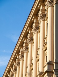 Detailed view of Cernin palace in Prague, Czech Republic.