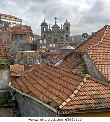 Detailed view of the picturesque world famous city of Porto.