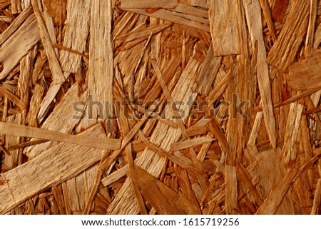 Detailed wood texture from compressed wood chippings and strands or oriented strand board, osb